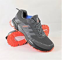 Кроссовки Adidas Fast Marathon Серые Мужские Адидас (размеры: 41,42,43,44,45,46) Видео Обзор, фото 2