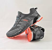Кроссовки Adidas Fast Marathon Серые Мужские Адидас (размеры: 41,42,43,44,45,46) Видео Обзор, фото 3