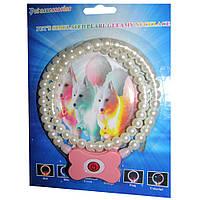 Светящийся ошейник для собак в виде жемчужин Pets simulated pearl gleamy necklage