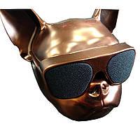 Портативная колонка в виде головы собаки -- БРОНЗОВАЯ