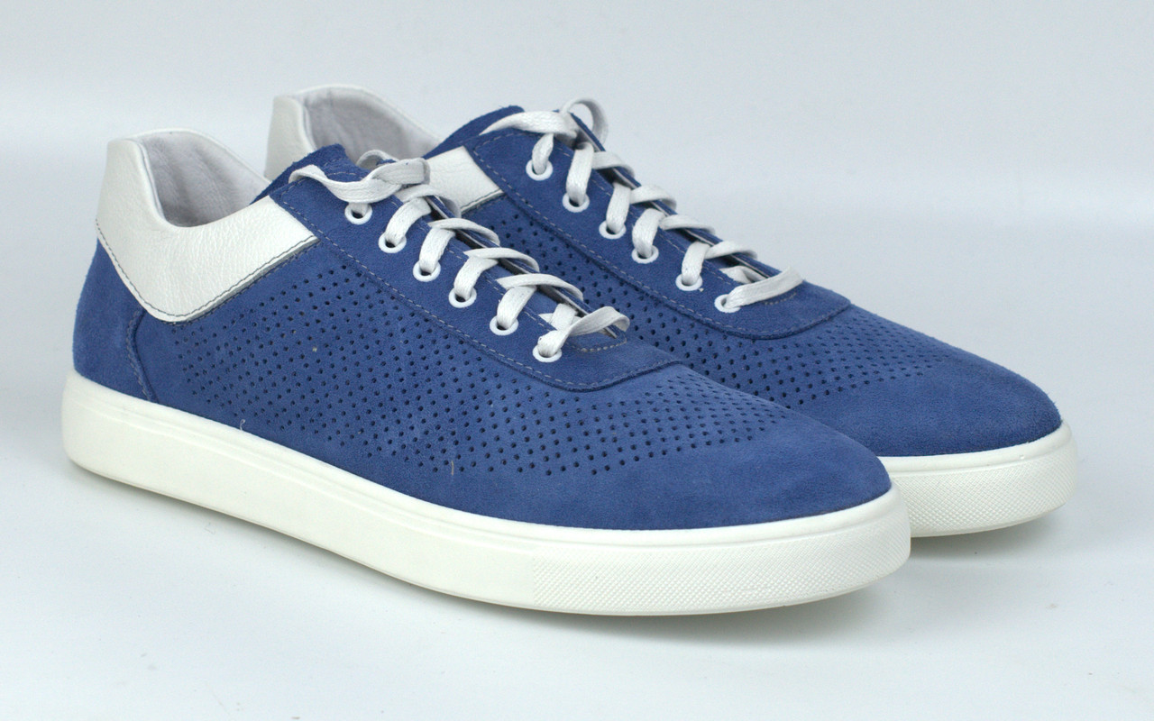 Сині кеди жіночі замшеві літні перфорація взуття великих розмірів Rosso Avangard Mozza Slip BluVelPerf