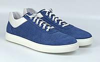 Сині кеди жіночі замшеві літні перфорація взуття великих розмірів Rosso Avangard Mozza Slip BluVelPerf, фото 1