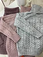 Теплый свитер детский ПРЯЖА для девочки