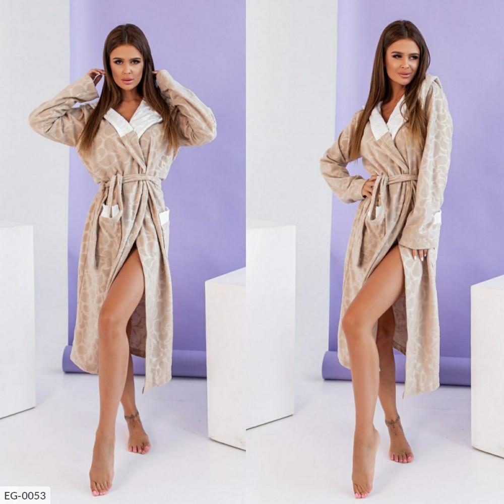 Элегантный женский халат из турецкого  поларфлиса батал с 50 по 60 размер