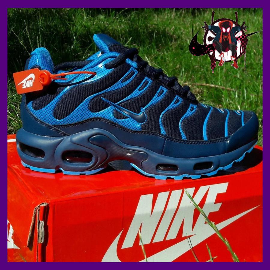 Мужские кроссовки синие Nike Air Max Plus OG Синие Найк  Кроссовки мужские найк Видео Обзор