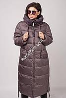 Зимнее пальто большого размера с мехом  Tongoi 7037, фото 1