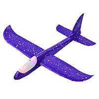 Пенопластовый метательный самолет-планер Светящийся (35 см)