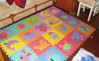 Детский Коврик-мозаика  10 деталей (9 мм, 30-30 см)