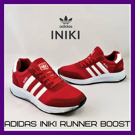 Кроссовки Мужские Adidas Iniki Runner Boost Красные Адидас Мужские кроссовки Adidas Iniki Видео Обзор, фото 2