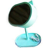 Led mirror у вигляді Кішки дзеркало для макіажа з підсвічуванням і нічником