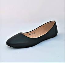 Балетки Черные Мокасины Женские Туфли (размеры: 34,35,36,37,38), фото 2