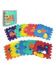 Детский Коврик-мозаика транспорт, 10 деталей (9 мм, 30-30 см).