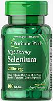 Puritan's Pride Selenium 200 mg 100 tablets