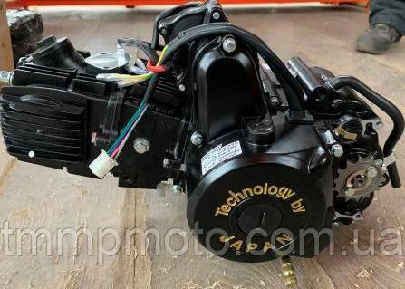 Двигатель 110куб Дельта, Альфа, Актив -110см3 ( полуавтомат) ЧЁРНЫЙ, фото 2