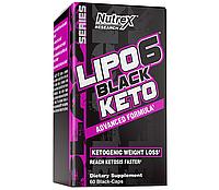 Nutrex Lipo-6 Black Keto 60 black-caps комплексный жиросжигатель для быстрого похудения