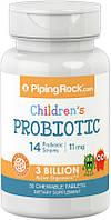 Piping Rock Children's Probiotic 3 billion 30 таб 3 миллиарда полезных бактерия для детского пищеварения