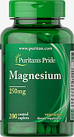 Puritan's Pride Magnesium 250 мг 200 таб магний для нервной системы