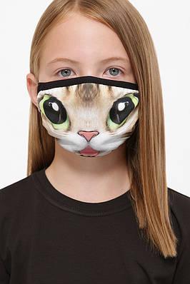 Детская маска на лицо с принтом