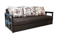 Классический раскладной диван НЕАПОЛЬ Диван-софа для повседневного сна Коричневый