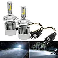 Комплект LED ламп HeadLight C6 H4 12v COB