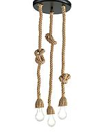 Винтажный подвесной светильник String 3 из каната (60 Вт, Italy)