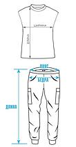 Велюровая пижама с кружевом BR-S майка и штаны синие 48 р. 1266405235, фото 3