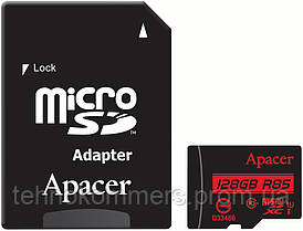 MicroSDXC (UHS-1) Apacer 128Gb class 10 R85MB/s (adapter SD)