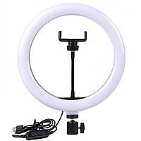 Кольцевая LED лампа USB с держателем для телефона Ring Fill Light (26 см)