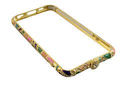 Железный бампер чехол iphone  6 / 4,7 -- золотой, цветной