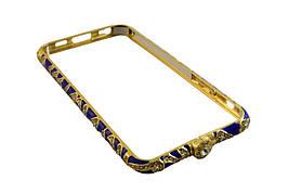 Залізний бампер чохол iphone 6 / 4,7 -- золотий, синій