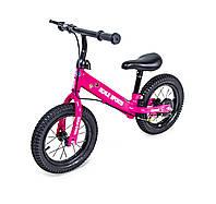 Велобег Scale Sports с дисковым тормозом, деткам от 2 лет. Розовый (Всего 4 цвета)