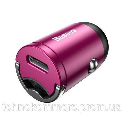 Автомобільний зарядний пристрій Baseus Tiny Star Mini Quick Charge Car Charger Pink, фото 2