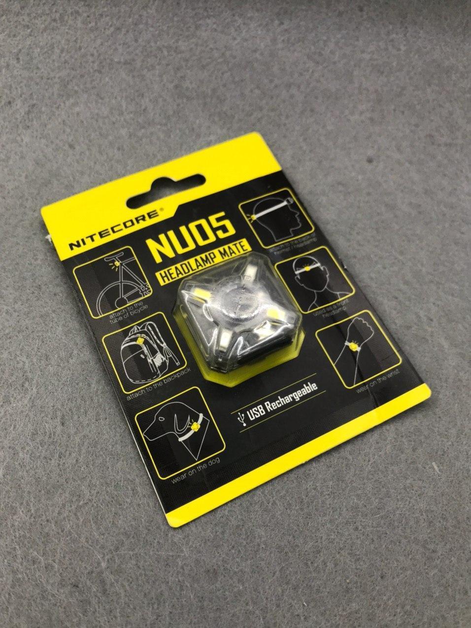 Ліхтарик Nitecore NU05 Headlamp Mate. Nu