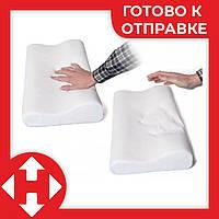 Ортопедическая подушка с эффектом памяти Memory Pillow 50х30см анатомическая мемори с памятью, фото 1