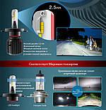Skoda LED H7 9-32V 25Вт 4000Люм 6500К (3290) японская автолампа на шкода на шкоду, фото 4