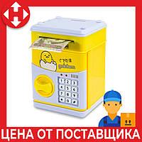 """Распродажа! Музыкальная копилка для детей (""""Цыпленок"""", желтый) игрушечный детский сейф с кодом - дитячий сейф, фото 1"""