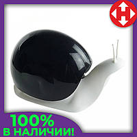 Распродажа! Дозатор для жидкого мыла улитка Snail мыльница черная - диспенсер для мыла настольный с доставкой, фото 1