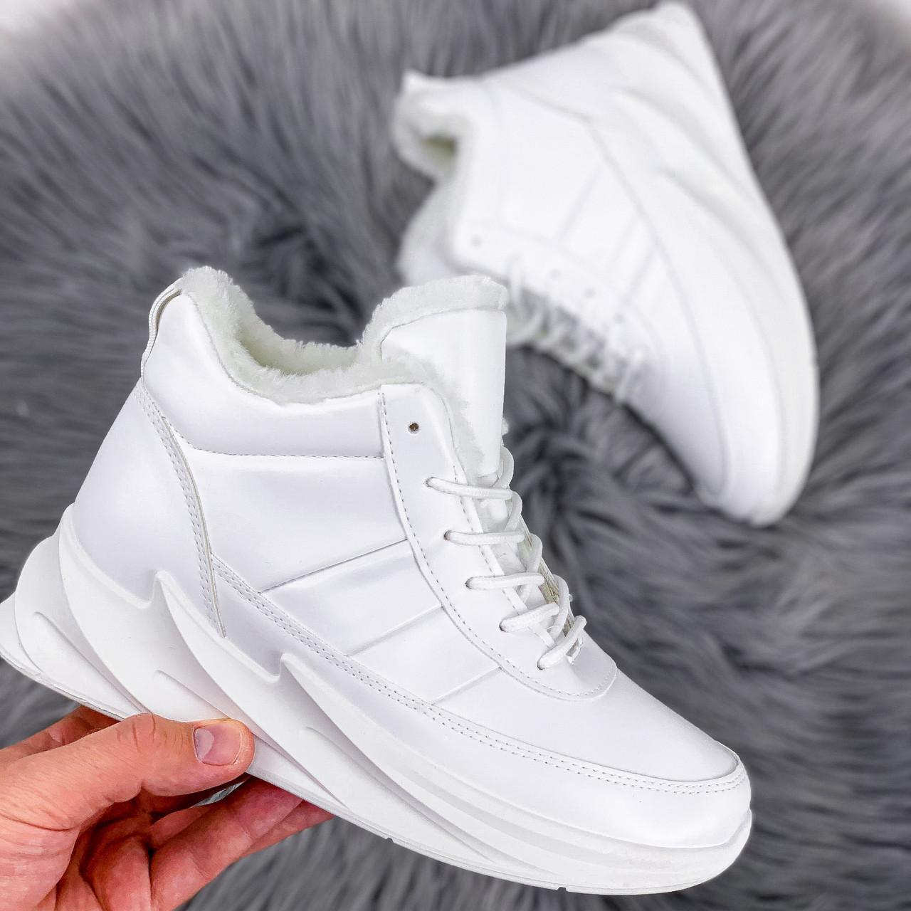 Кроссовки женские под бренд белые 2223