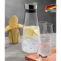 Набор стаканчиков KELA KELA Fontana: графин 1,3 л и 4 стакана 250 мл (12415), фото 1