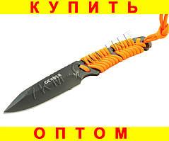 Нож Gerber, фиксированное лезвие серейтор
