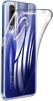 Ультратонкий чохол для Realme 6 прозорий