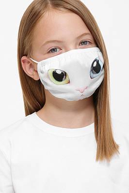 Детская защитная тканевая маска с принтом