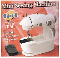 Мини швейная машинка 4 в 1, с педалью