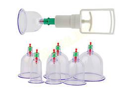 Антицеллюлитные вакуумные банки с насосом - 6 шт