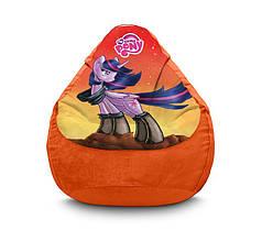 """Крісло мішок """"My Little Pony. Twilight Sparkle orange"""" Флок"""