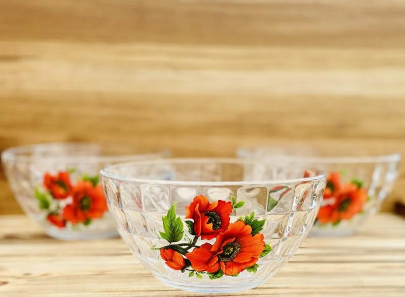 Набор салатников стекло ОСЗ Мак 5 предметов