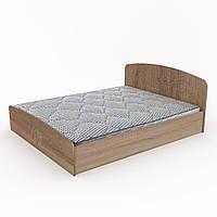 Кровать Нежность-160 МДФ двухспальная деревянная, мебель для спальни (Компанит)