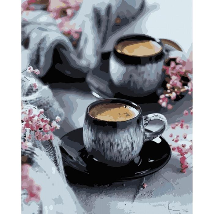 Картина по номерам Кофе на двоих ТМ Идейка 40 х 50 см КНО5548