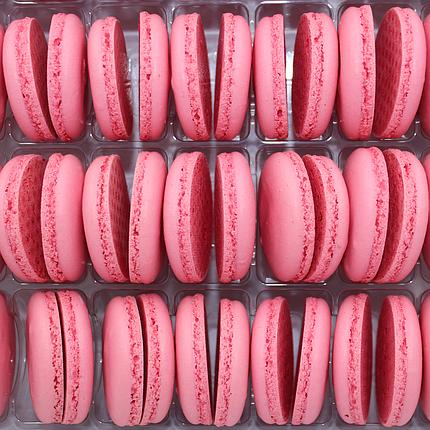 Макаронс напівфабрикат кришечки половинки рожеві, фото 2