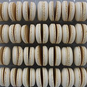 Макаронс напівфабрикат кришечки половинки білі